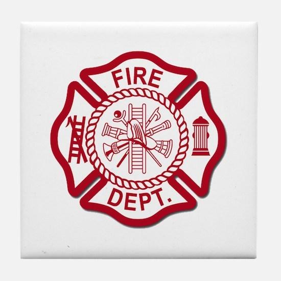 Firefighter Baby Tile Coaster