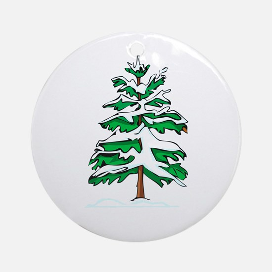 Yule Tree Ornament (Round)