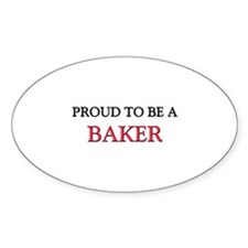 Proud to be a Baker Oval Decal