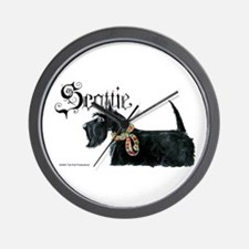 Scottish Terrier Gothic Wall Clock