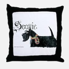 Scottish Terrier Gothic Throw Pillow