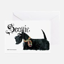 Scottish Terrier Gothic Greeting Cards (Package of