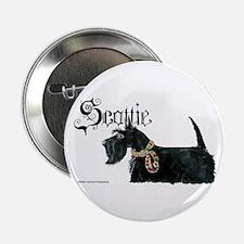 Scottish Terrier Gothic Button