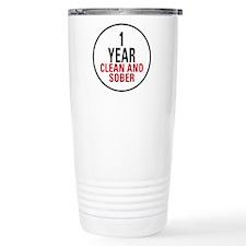 1 Year Clean & Sober Travel Coffee Mug