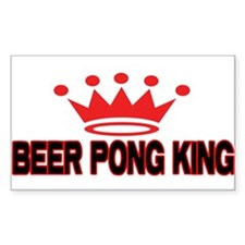 Beer Pong King Rectangle Decal