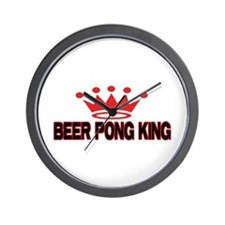 Beer Pong King Wall Clock
