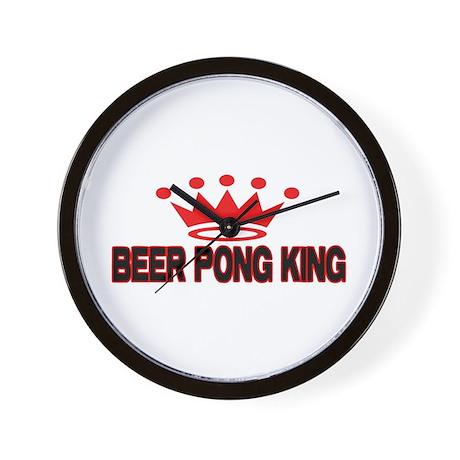 Beer Pong King Wall Clock