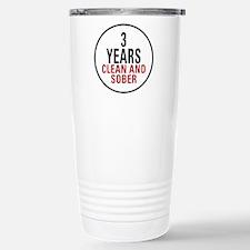 3 Years Clean & Sober Travel Mug