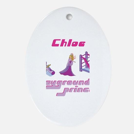 Chloe - Playground Princess Oval Ornament