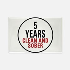 5 Years Clean & Sober Rectangle Magnet