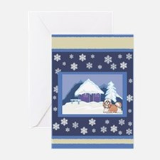 Snowflake Shih Tzu Greeting Cards (Pk of 20)