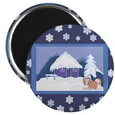 Snowflake Shih Tzu Magnet