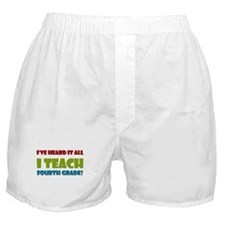 Fourth Grade Teacher Boxer Shorts