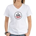 6 Years Clean & Sober Women's V-Neck T-Shirt