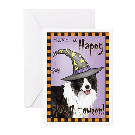 Halloween Border Collie Greeting Cards (Pk of 10)
