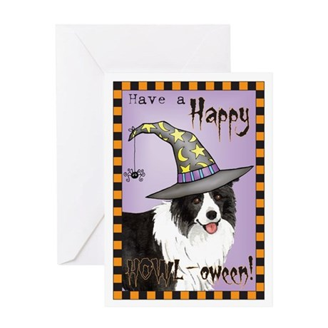 Halloween Border Collie Greeting Card