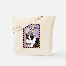 Halloween Border Collie Tote Bag
