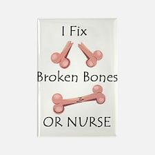 Broken bone RN Rectangle Magnet