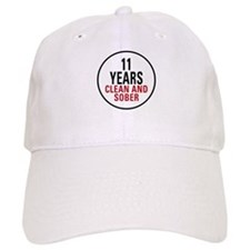 11 Years Clean & Sober Baseball Cap