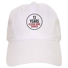 13 Years Clean & Sober Baseball Baseball Cap