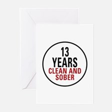 13 Years Clean & Sober Greeting Cards (Pk of 10)