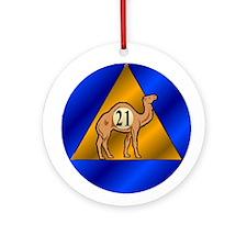 Sober Camel 21 Ornament (Round)