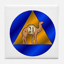 Sober Camel 21 Tile Coaster