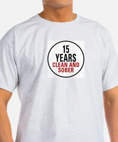 15 Years Clean & Sober T-Shirt