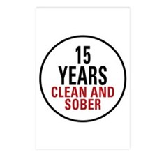 15 Years Clean & Sober Postcards (Package of 8)