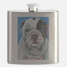 American Bulldog Puppy Flask