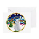 XMusic4-American Eskimo Greeting Cards (Pk of 20)
