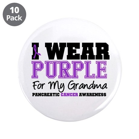 "Pancreatic Cancer 3.5"" Button (10 pack)"