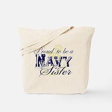 Proud Navy Sister Tote Bag