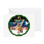 XmasSunrise/Vizsla Greeting Cards (Pk of 10)