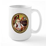 Santa's American Eskimo #5 Large Mug