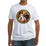 Santa's American Eskimo #5 Fitted T-Shirt