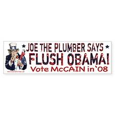 Flush Obama says Joe Bumper Bumper Sticker