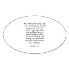 GENESIS 22:3 Oval Decal