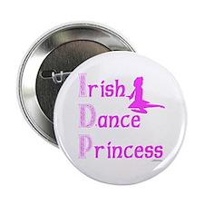 """Irish Dance Princess - 2.25"""" Button"""