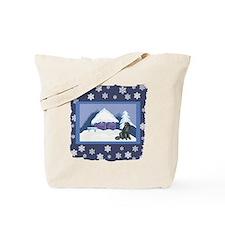 Snowflake Pekingese Tote Bag