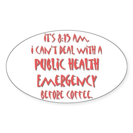Public Health Emergency Oval Sticker (10 pk)