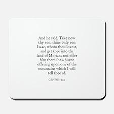 GENESIS  22:2 Mousepad