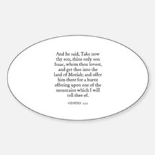 GENESIS 22:2 Oval Decal