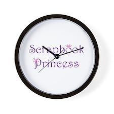 Scrapbook Princess Wall Clock