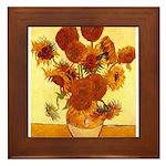 Van Gogh Sunflowers Framed Tile