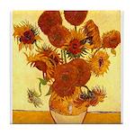 Van Gogh Sunflowers Tile Coaster