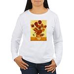 Van Gogh Sunflowers Women's Long Sleeve T-Shirt
