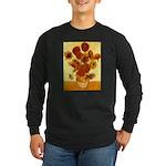 Van Gogh Sunflowers Long Sleeve Dark T-Shirt