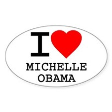 I Love Michelle Obama Oval Decal