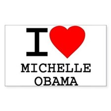 I Love Michelle Obama Rectangle Decal